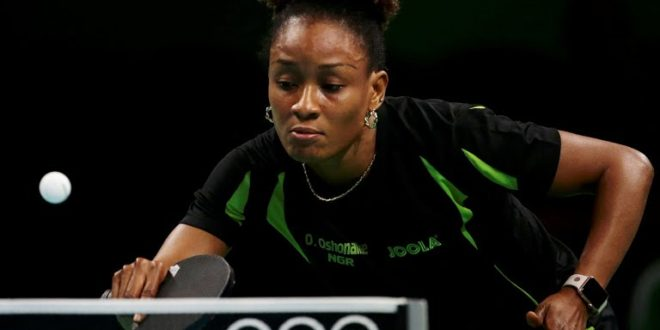 Olufunke Oshonaike Nigeria table tennis player